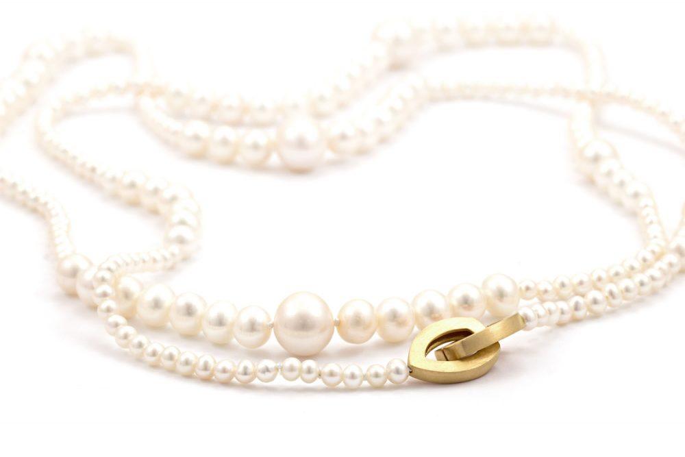 Perlenkette mit Verläufen und Klappschliesse