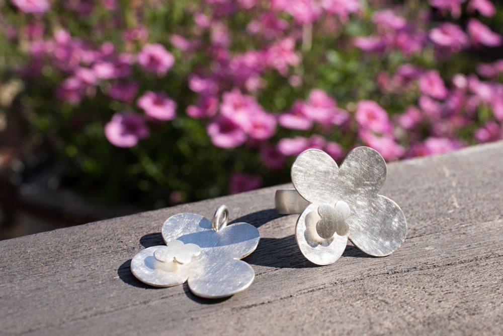 Schmuckserie FLEUR aus Silber