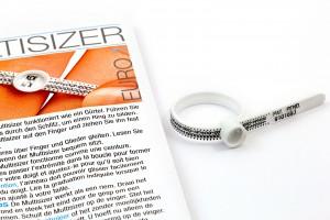 einfaches feststellen der eigenen Ringgröße mit dem ringsizer