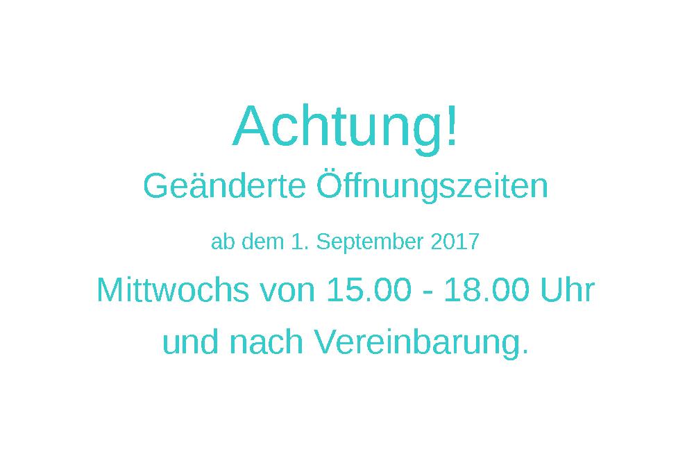 Öffnungszeiten ringlein-Atelier ab September 2017