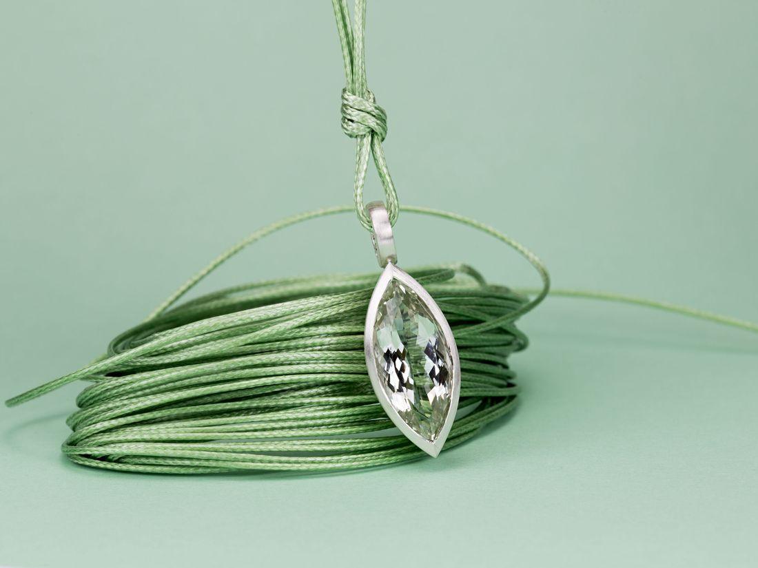 Silberanhänger mit Prasiolith