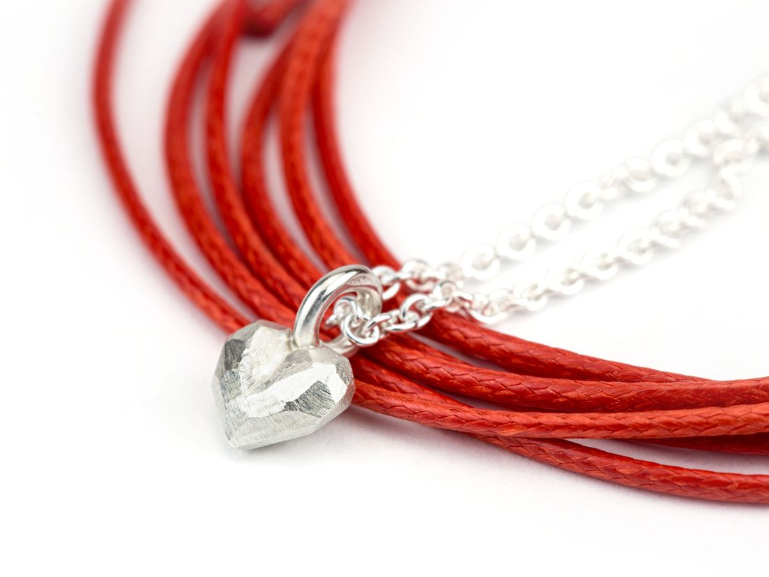 mini Silberanhänger Herz