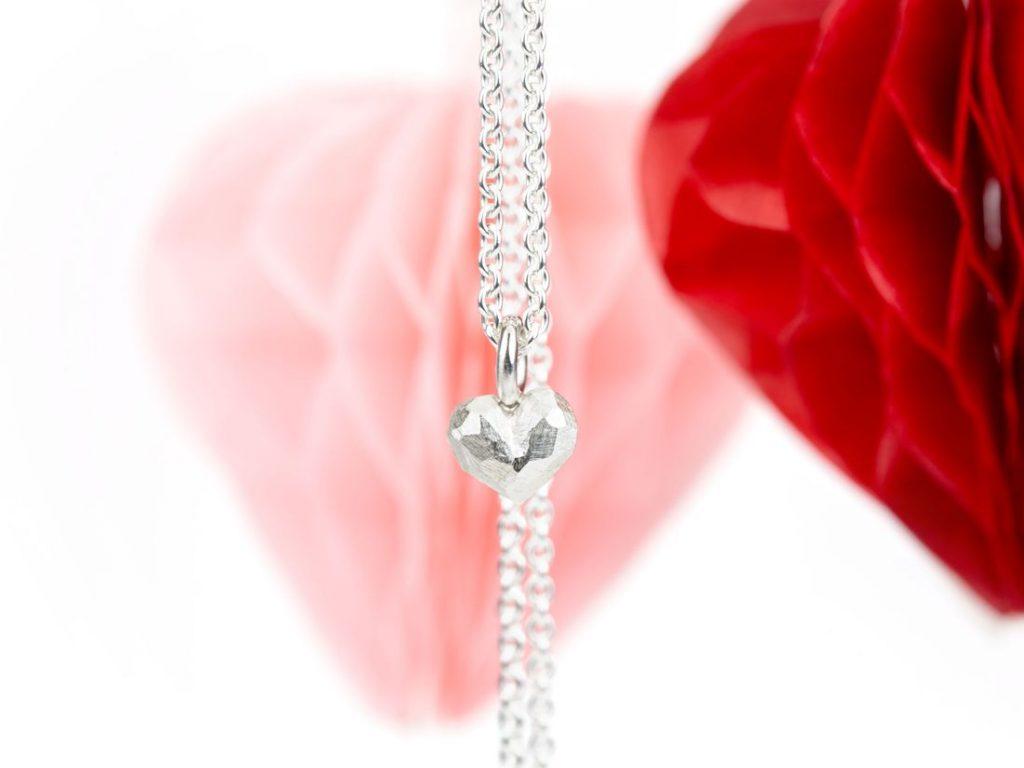winziger Silberanhänger Herz
