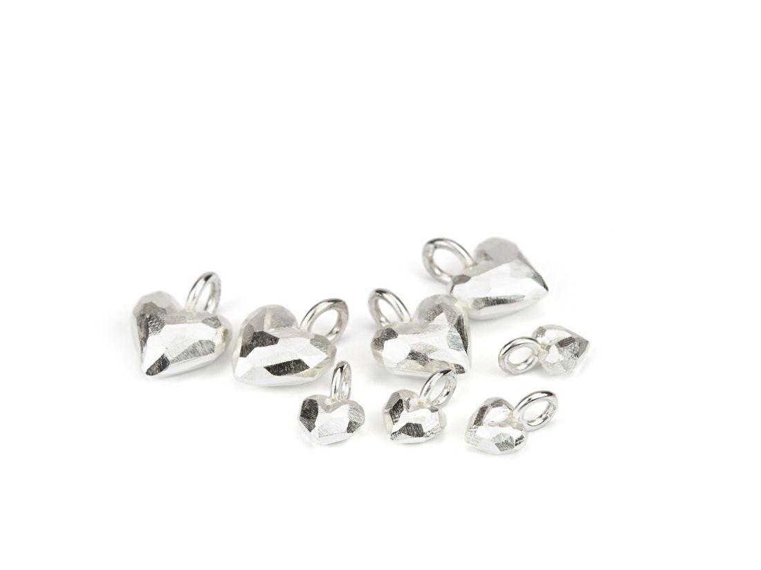 mehrere Anhänger Silber Herzchen